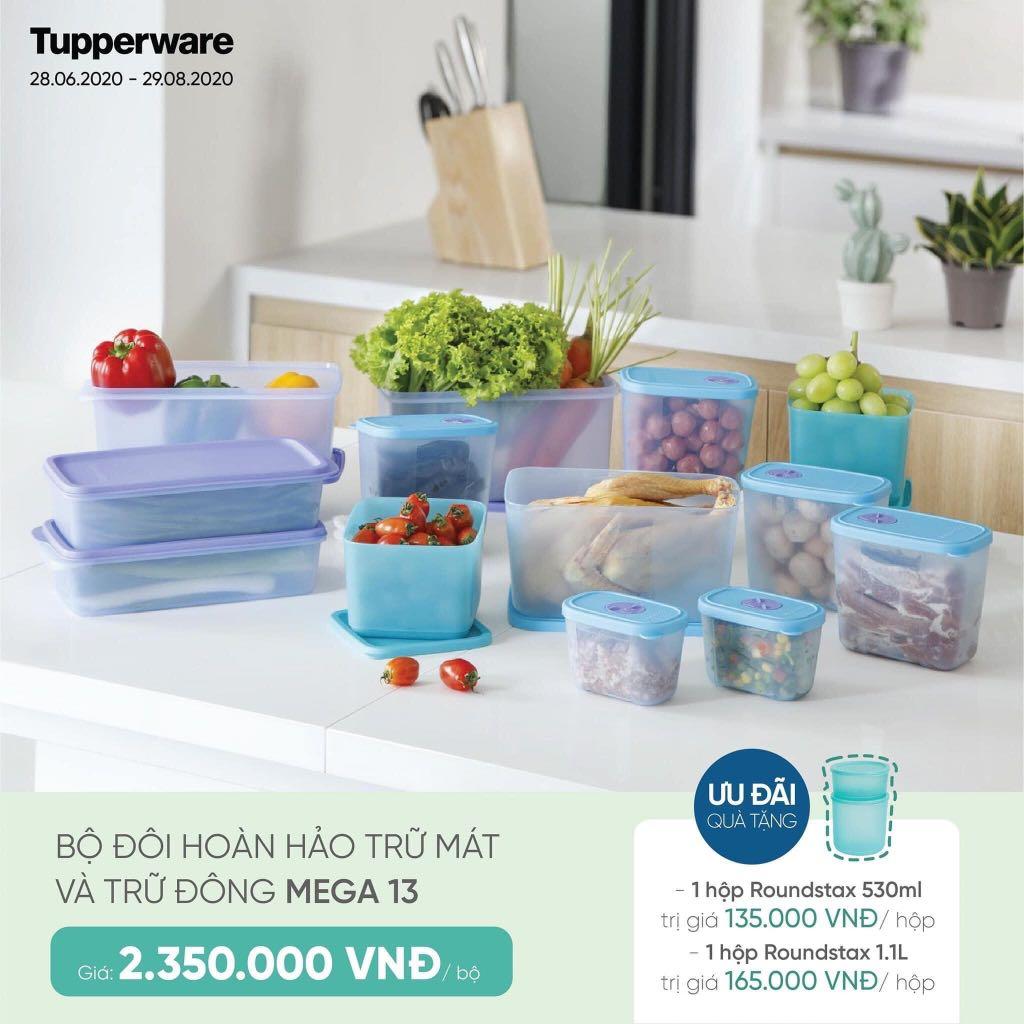 Bộ 13 hộp nhựa Tupperware trữ mát & trữ đông