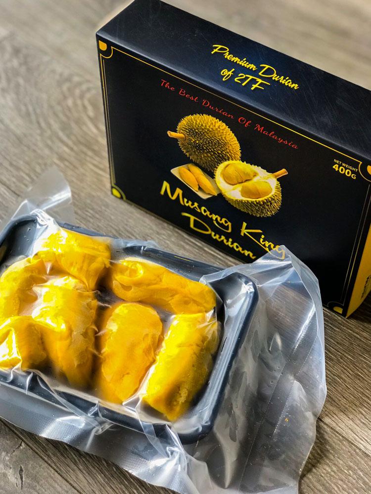 Cơm sầu riêng MusangKing Malaysia 400g/khay