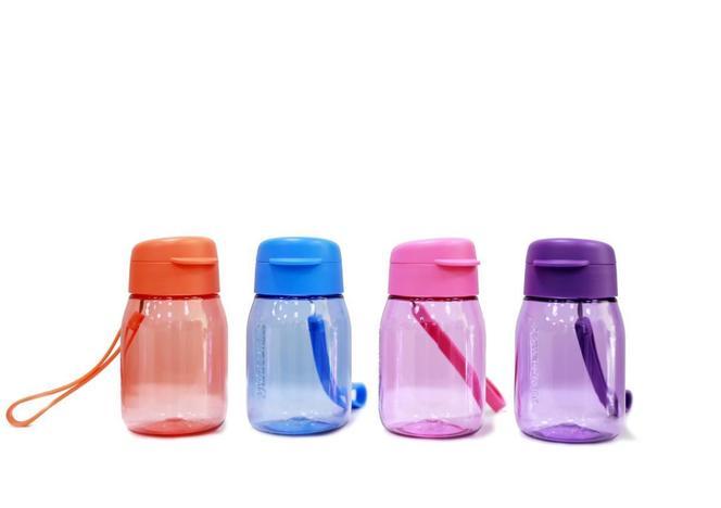 Bình nước mini Tupperware Lohas hồng đậm 350ml
