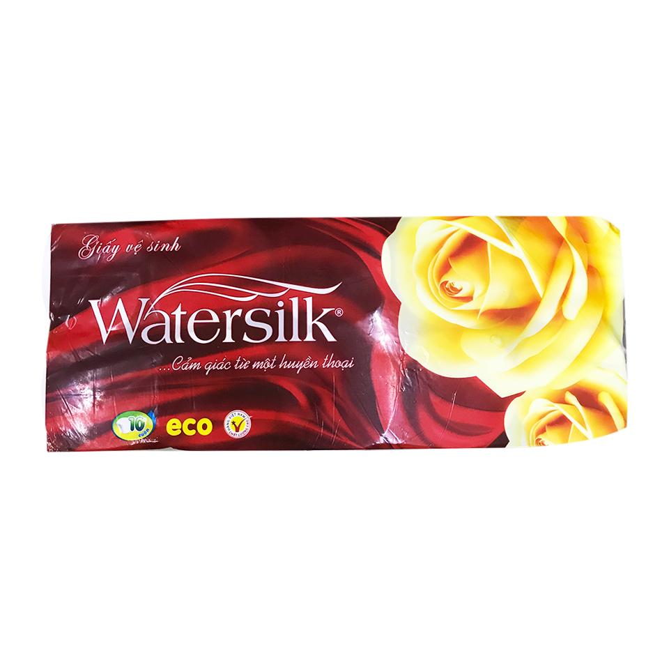 Giấy vệ sinh Watersilk đặc 10 cuộn
