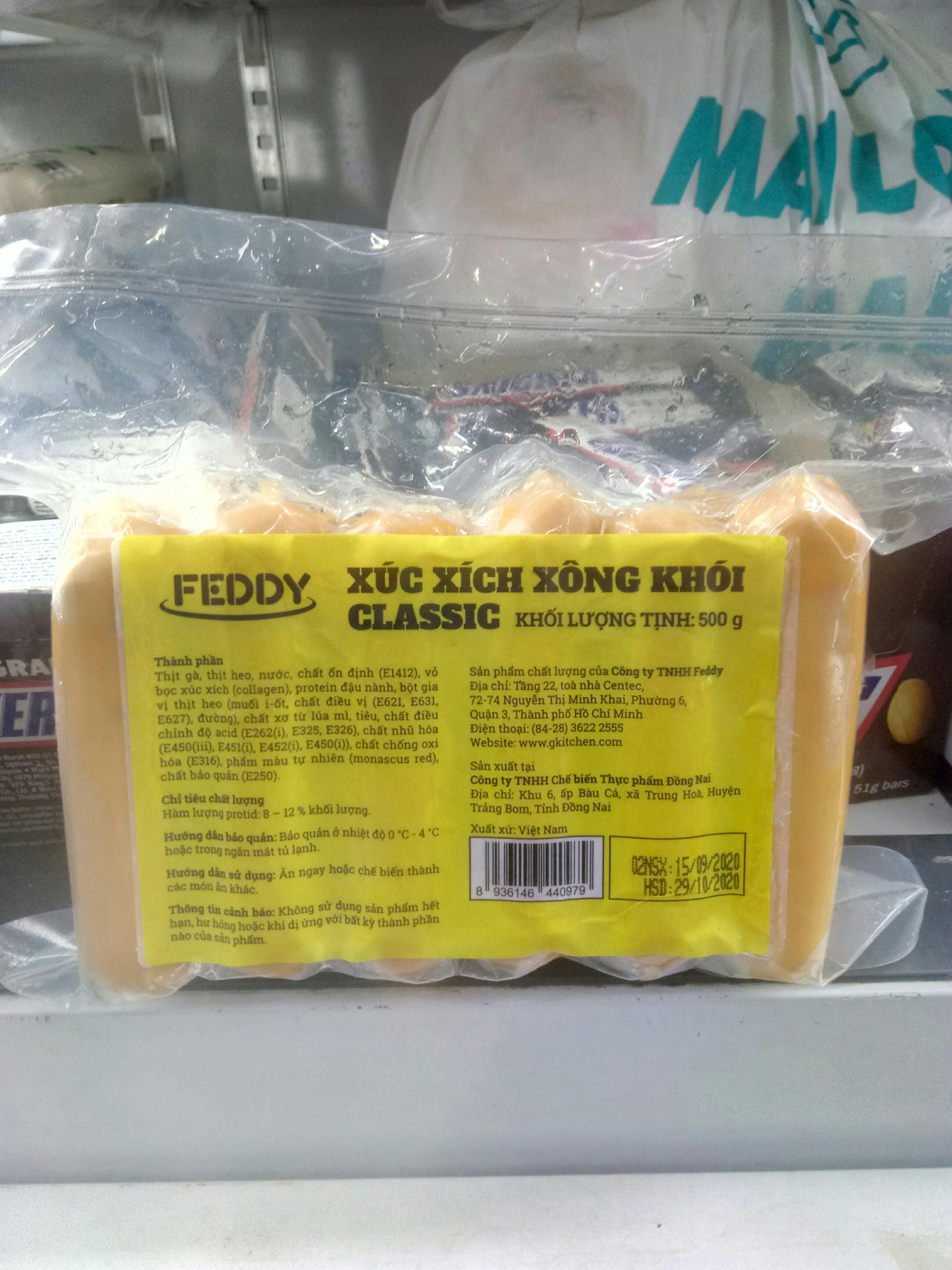 Xúc xích xông khói classic Feddy 500g