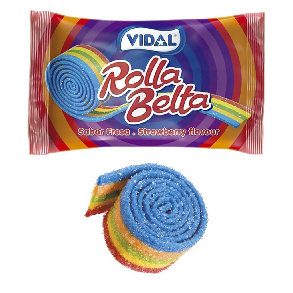 Kẹo cuộn cầu vồng Vidal Rolla Belta 19g Tây Ban Nha
