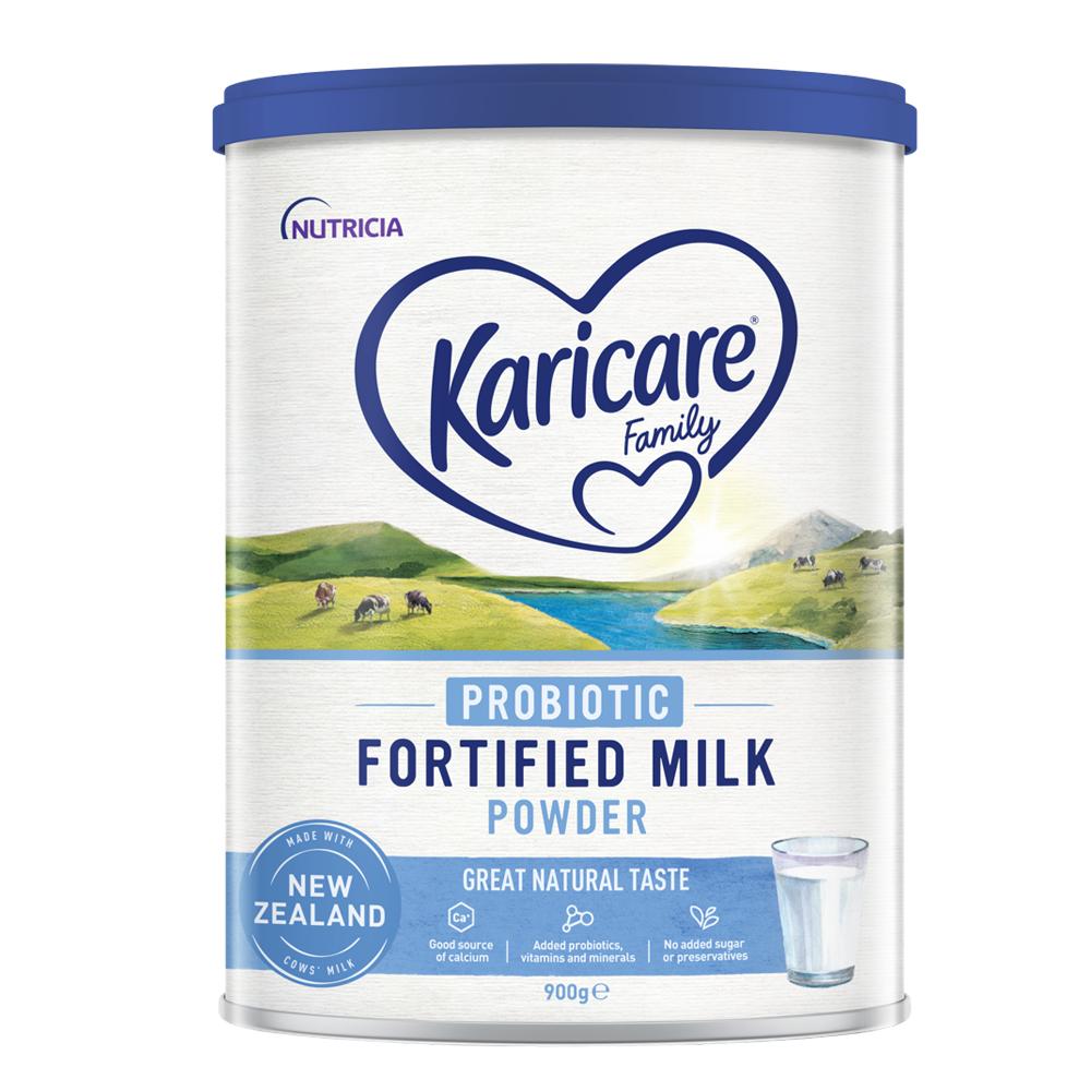 Sữa bột nguyên kem Karicare Family lợi khuẩn 900g (4Y+) New Zealand