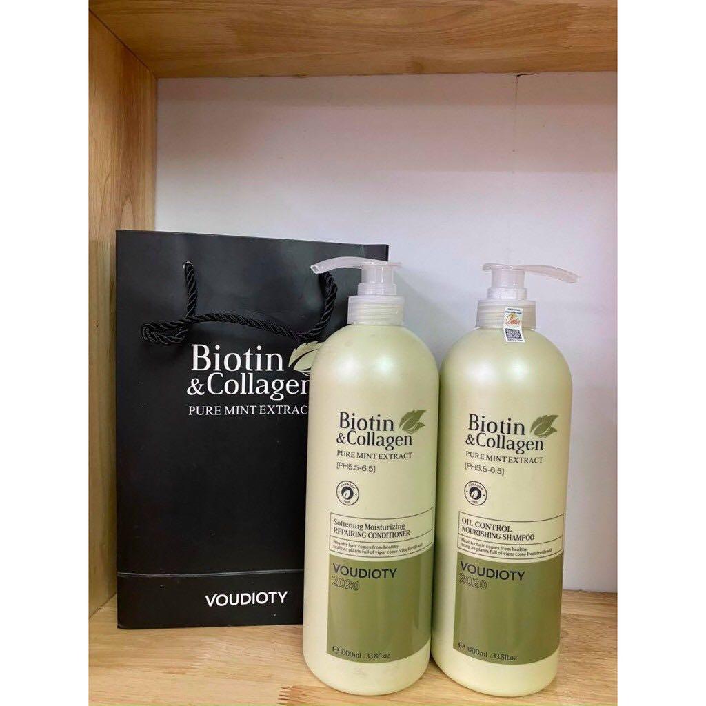 Dầu xả Biotin&Collagen VOUDIOTY kiềm dầu 1000ml Italy