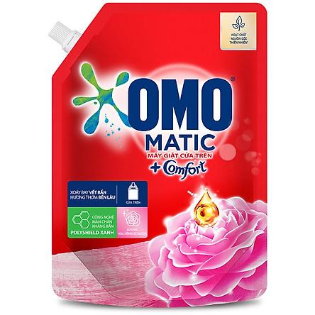 Nước giặt OMO Comfort Matic cửa trên hương Hoa hồng 1,9L