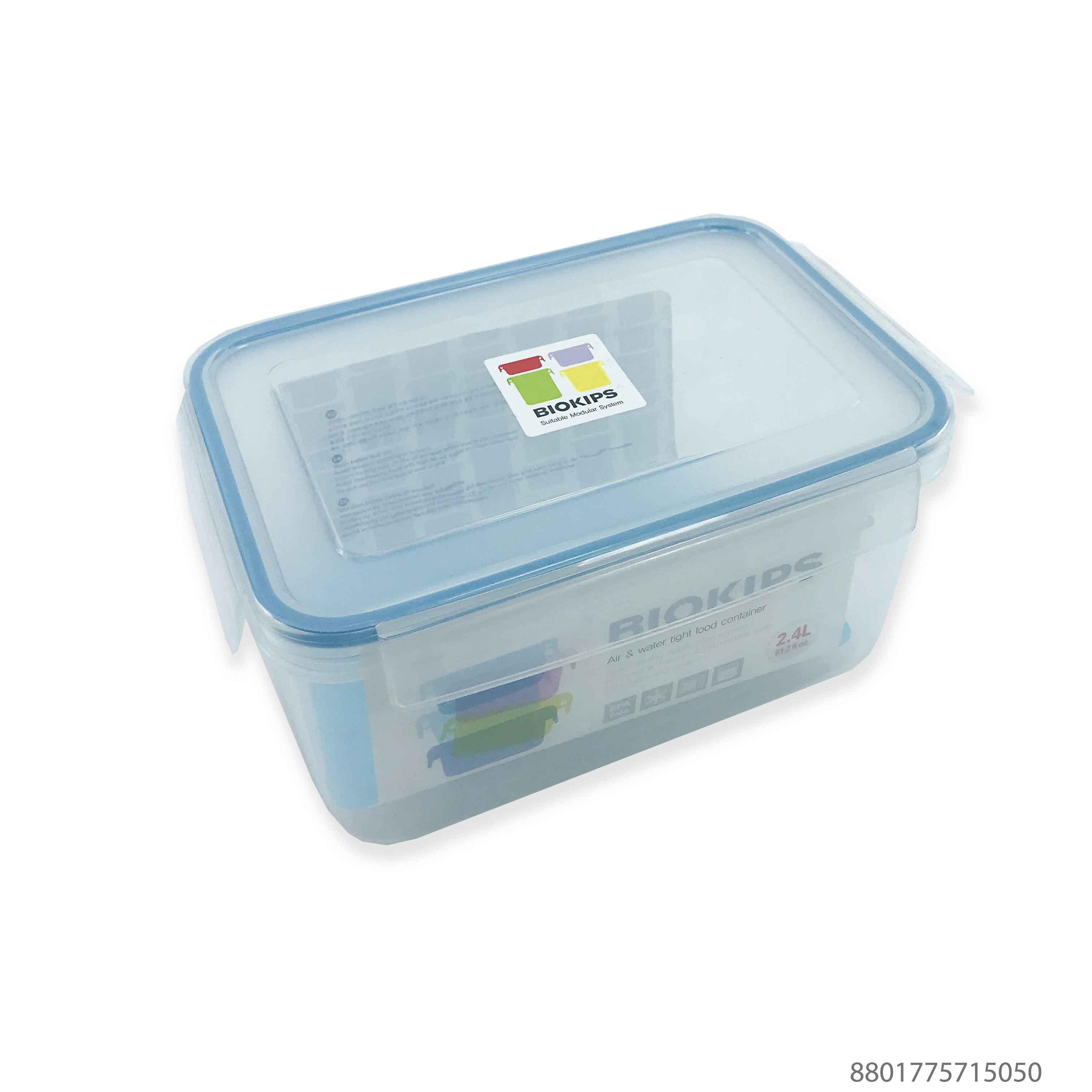 Hộp nhựa đựng thực phẩm 2,4L Hàn Quốc