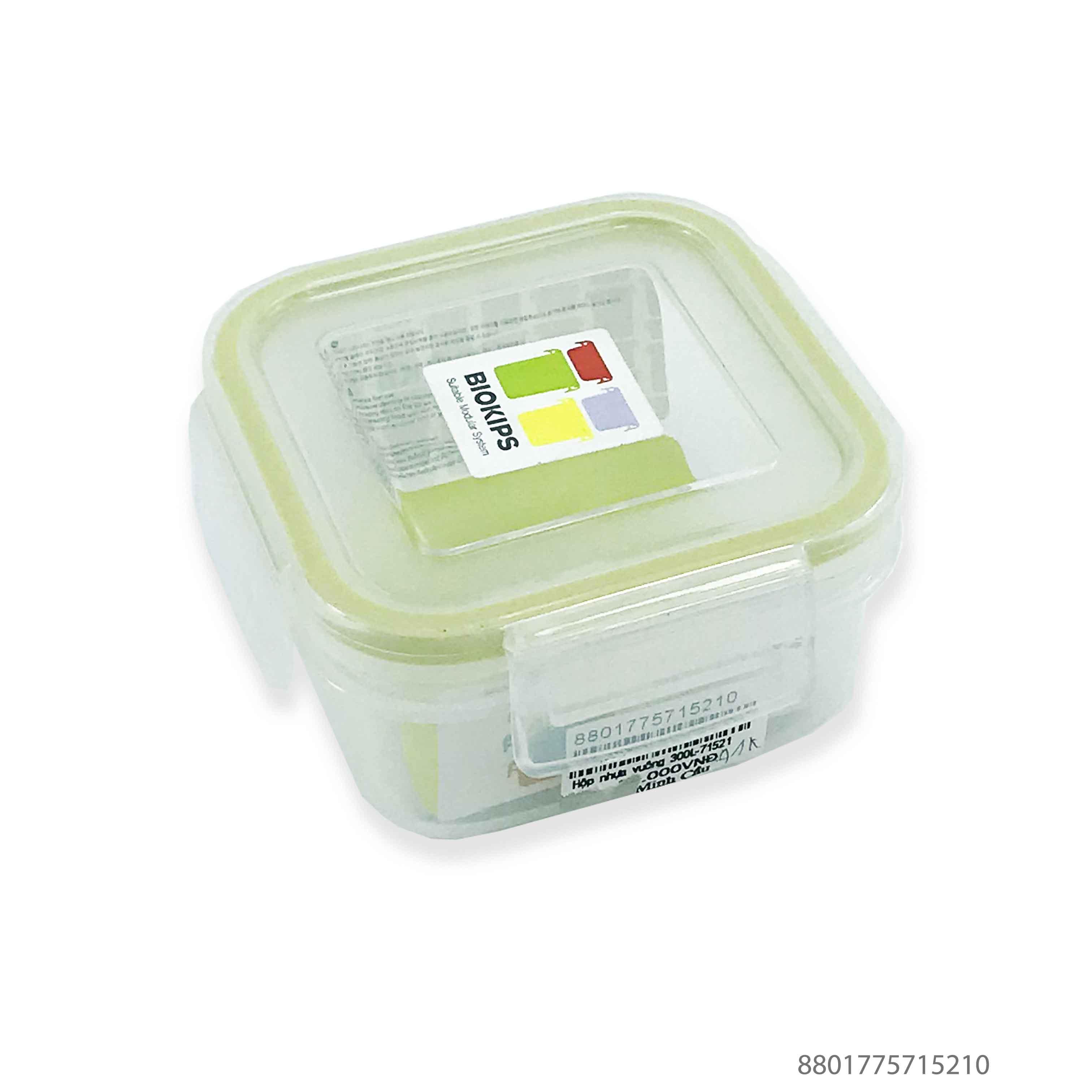 Hộp nhựa đựng thực phẩm vuông 300ml