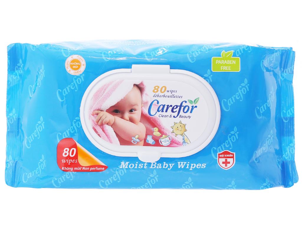 Khăn ướt Carefor không mùi 80 tờ