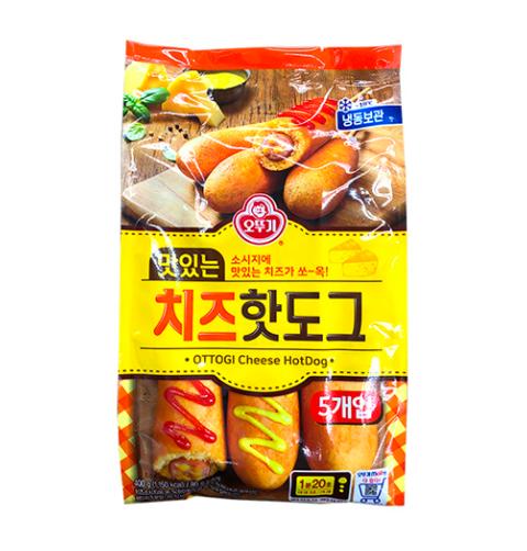 Xúc xích Ottogi phô mai 5 xiên Hàn Quốc 400g