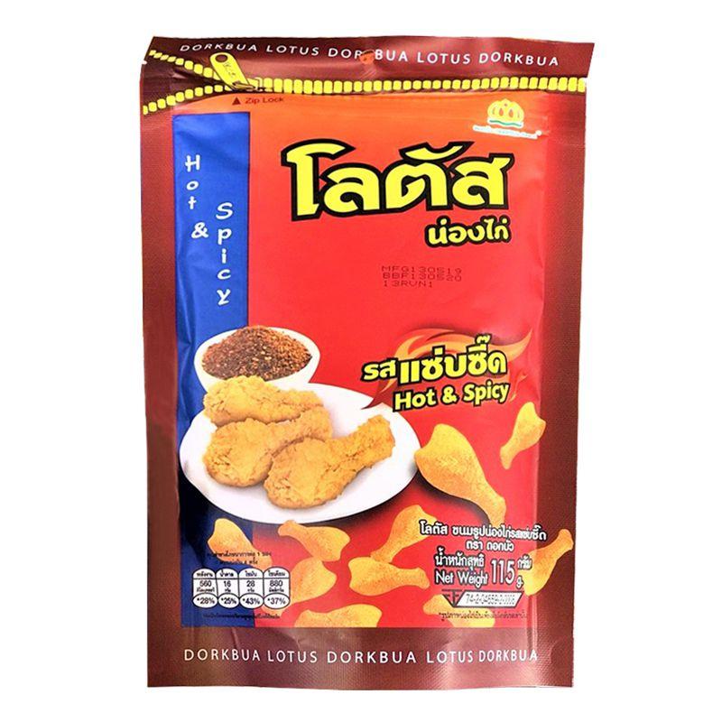 Snack gà cay Hot & Spicy Dorkbua Thái Lan 115g