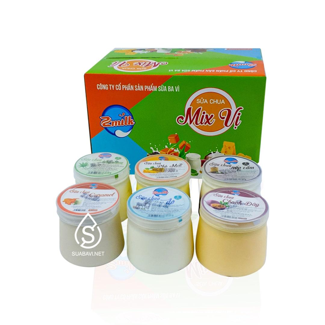 Sữa chua mix vị con bò vàng Ba Vì 120g