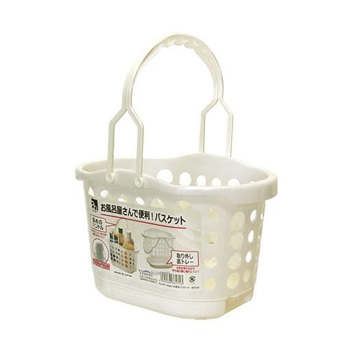 YAMADA Giỏ đựng đồ dùng nhà tắm màu trắng