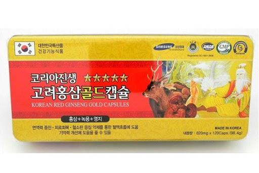Viên uống sâm nhung hươu linh chi Hàn Quốc 800mg*120 viên