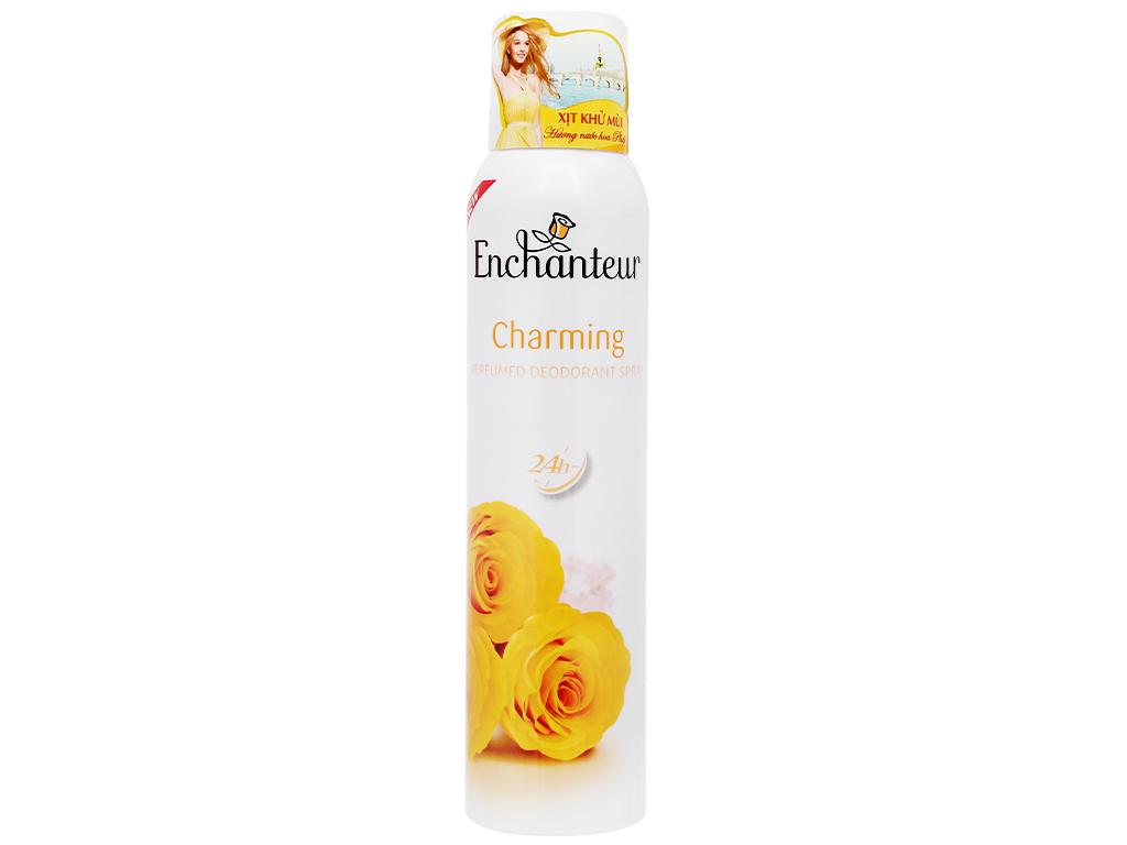Xịt khử mùi hương nước hoa Enchanteur 150ml (vàng)