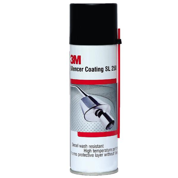 3M Silencer Coating SL 250 BK250, Sơn phủ chống sét chịu nhiệt độ cao bảo vệ Pô ống xả, 250ml