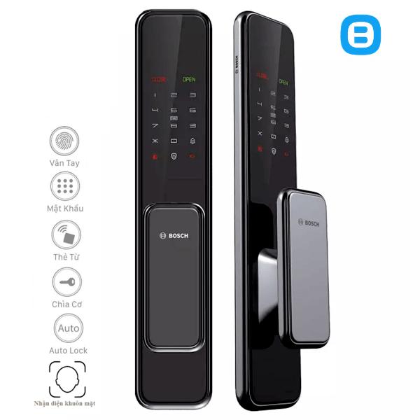 Bosch EL600 Khóa cửa điện tử thông minh cao cấp nhận dạng bằng khuôn mặt vân tay
