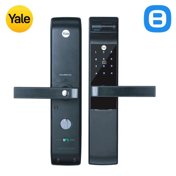 Yale YDM7116A, Khóa cửa điện tử thông minh cao cấp nhận dạng vân tay, Có tay gạt