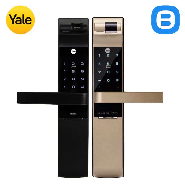 Yale YDM7116, Khóa cửa điện tử thông minh cao cấp nhận dạng vân tay, Có tay gạt