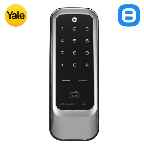 Yale J20A, Khóa cửa điện tử thông minh cao cấp nhận dạng thẻ từ, Không tay gạt, Màu bạc
