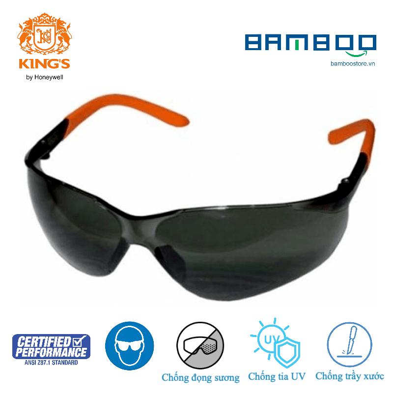King's KY2221 KY222, Kính bảo hộ thời trang cao cấp chống bụi chống tia UV chống đọng sương bảo vệ mắt