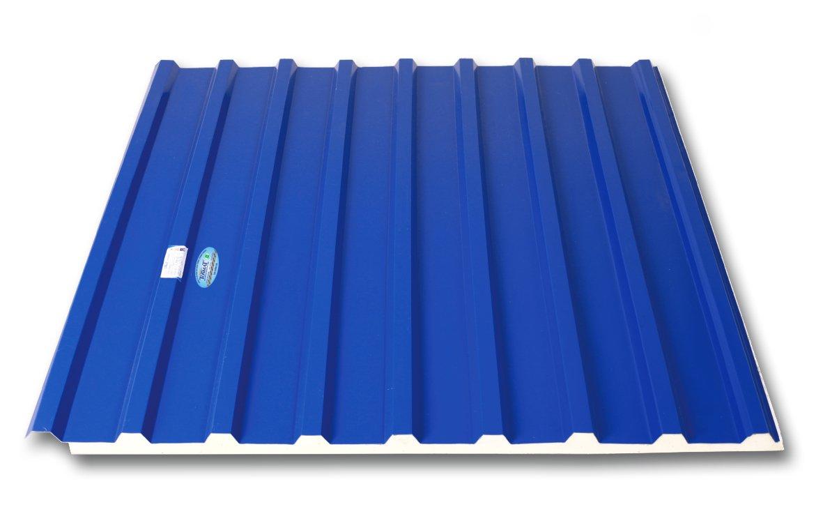Tonmat spec tôn mát ba lớp cách nhiệt PU 5 sóng 9 sóng màu xanh ngọc xanh dương tím đỏ tươi