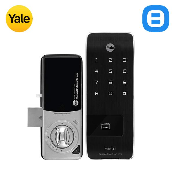 Yale YDR343, Khóa cửa điện tử thông minh cao cấp nhận dạng thẻ từ, Không tay gạt, Màu đen