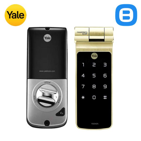 Yale YDD424+, Khóa cửa điện tử thông minh cao cấp nhận dạng vân tay, Không tay gạt, Màu vàng nhạt