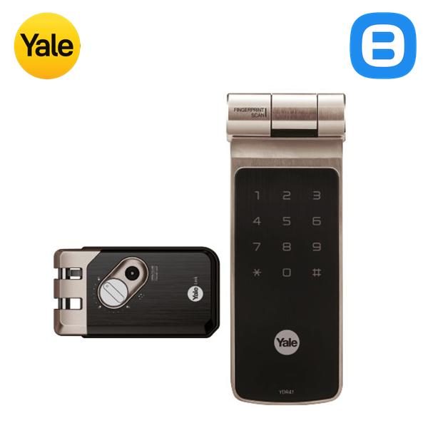 Yale YDR41, Khóa cửa điện tử thông minh cao cấp nhận dạng vân tay, Không tay gạt, Màu Niken