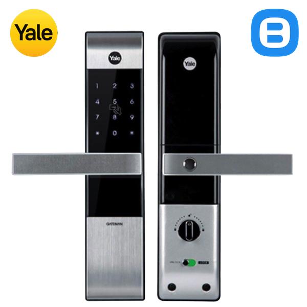 Yale YDM3109+, Khóa cửa điện tử thông minh cao cấp nhận thẻ từ, Có tay gạt, Màu bạc