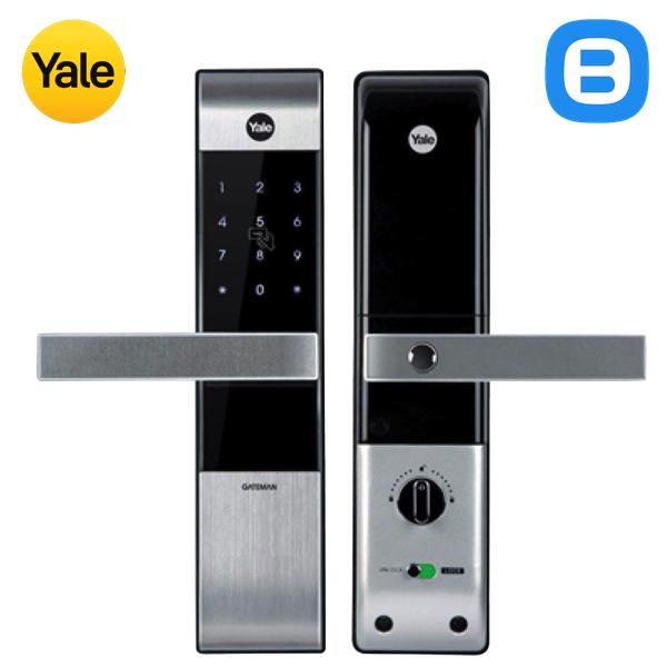 Yale YDM3115, Khóa cửa điện tử thông minh cao cấp nhận thẻ từ, Có tay gạt, Màu bạc