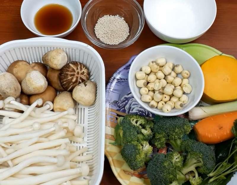 Nguyên liệu nấu canh nấm chay