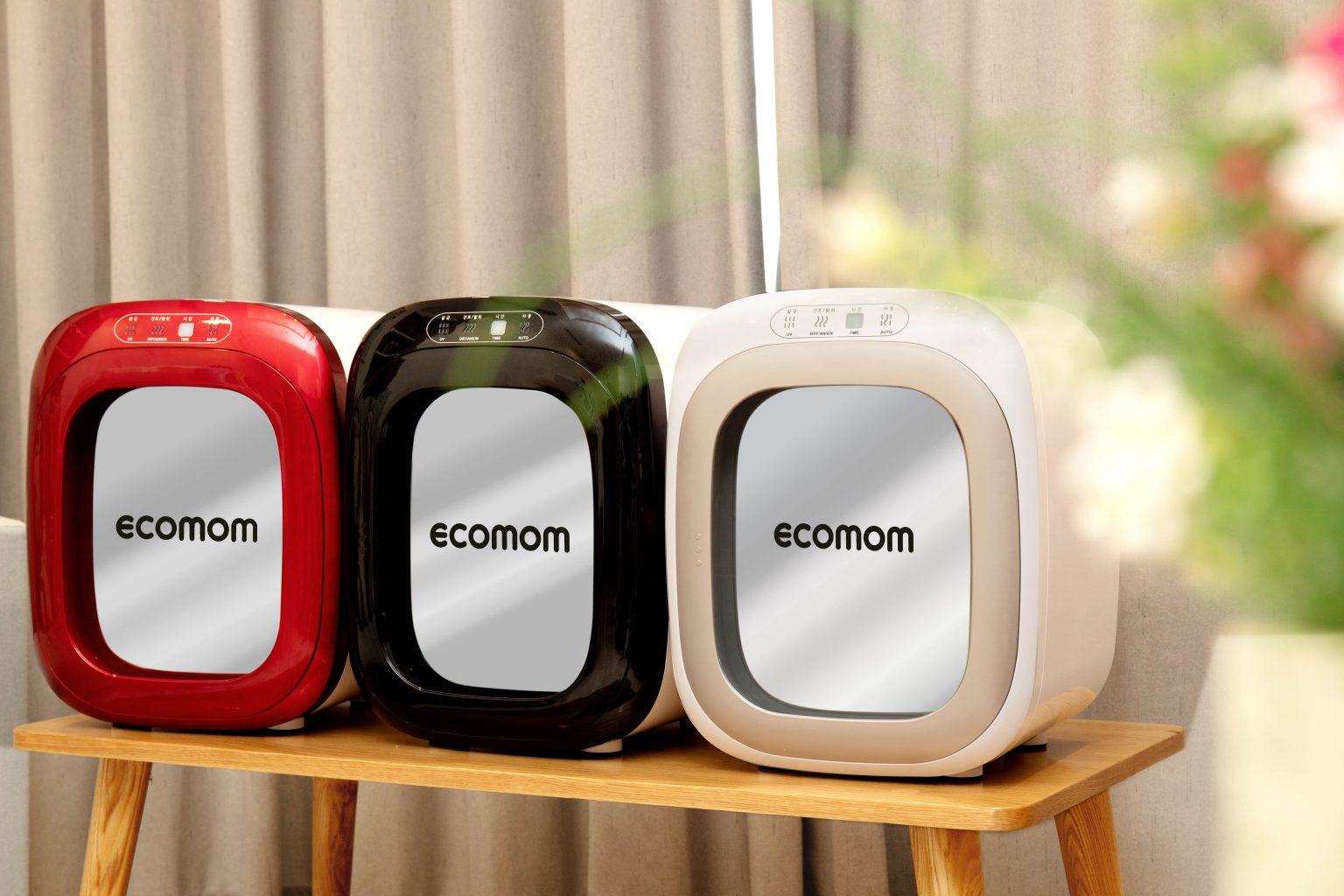 Ecomom - Máy tiệt trùng sấy khô khử mùi bằng tia UV ECO-100 Pro (Màu Đỏ,  màu Bạc)