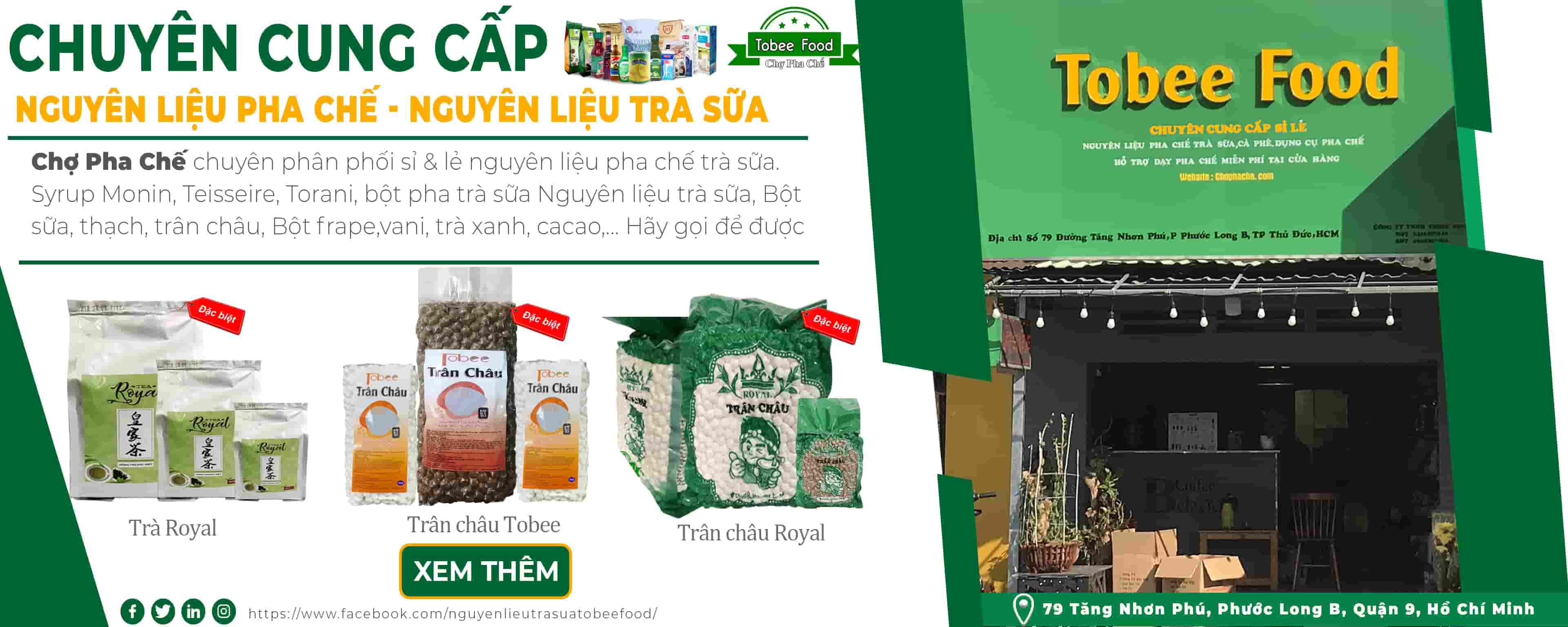 Giới thiệu công ty TNHH Tobee Food Nguyên liệu pha chế
