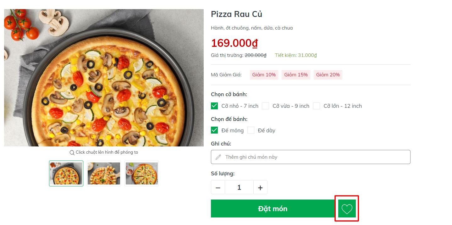 Evo Pizza Sản phẩm yêu thích