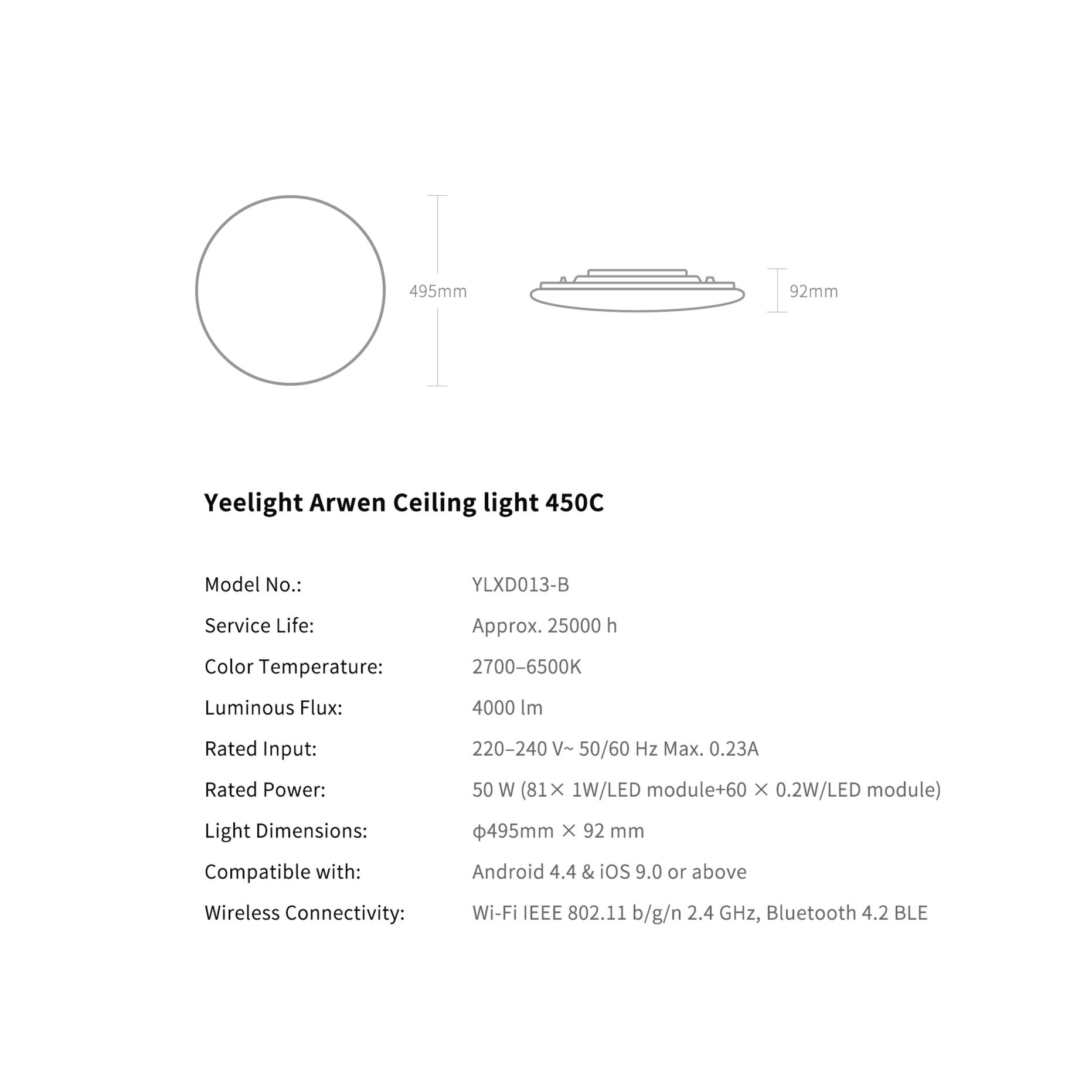 Đèn ốp trần Yeelight Arwen C - 550C