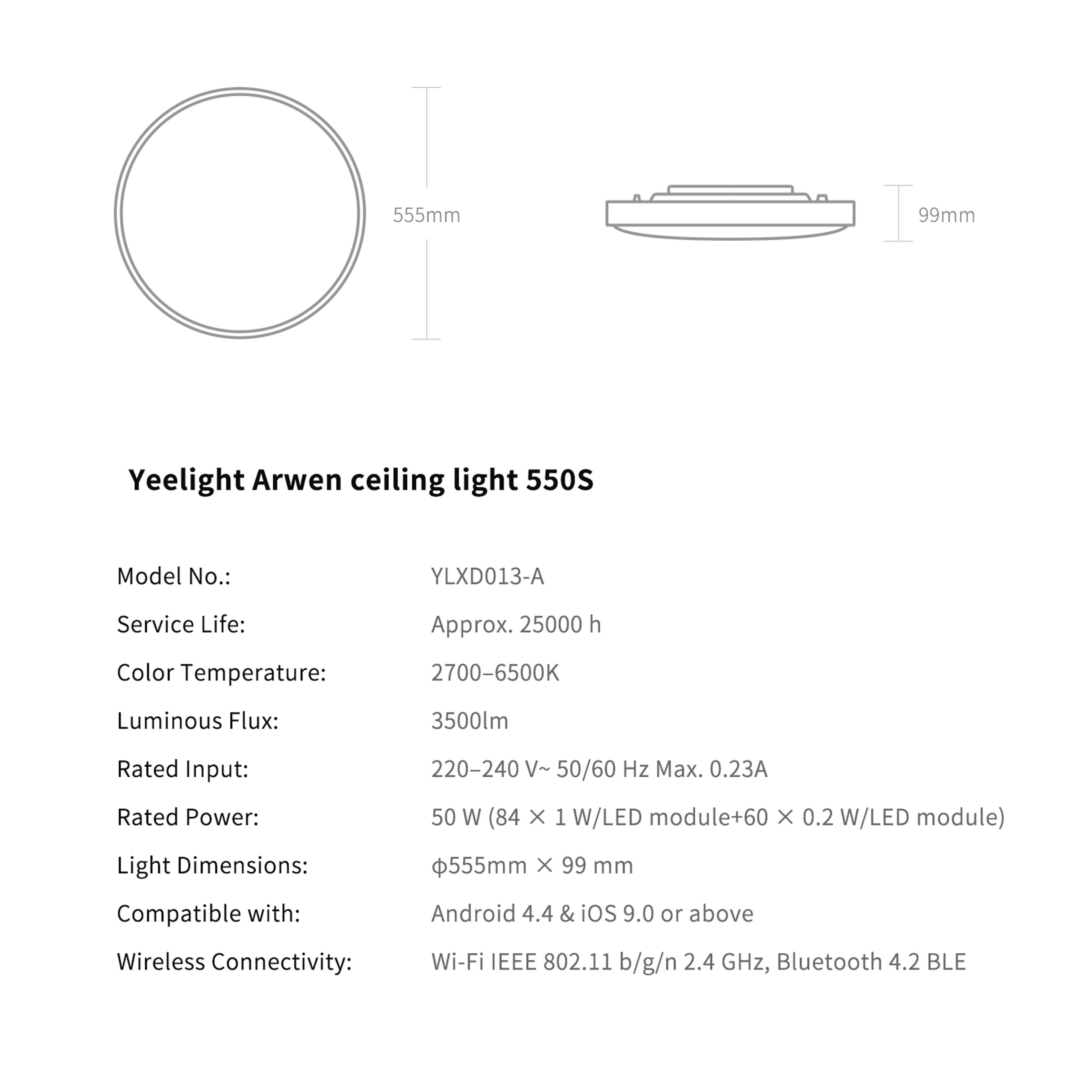 Đèn ốp trần Yeelight Arwen S - 450S