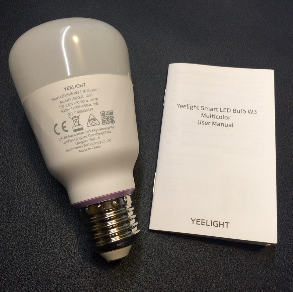 [NEW 2021] Bóng đèn Led thông minh Xiaomi Yeelight Bulb W3 đui xoắn E27 (RGB 16 triệu màu)