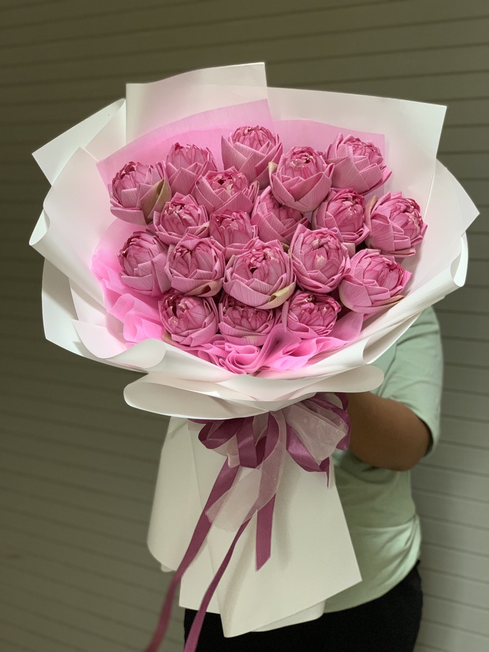 Bó hoa sen hồng 36