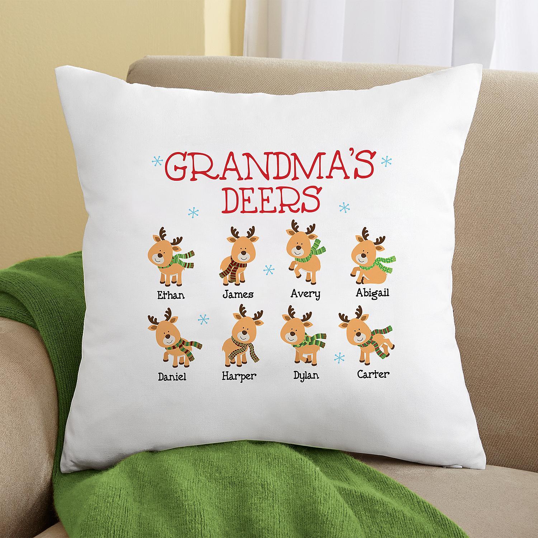 Gối vuông Grandma's Deers