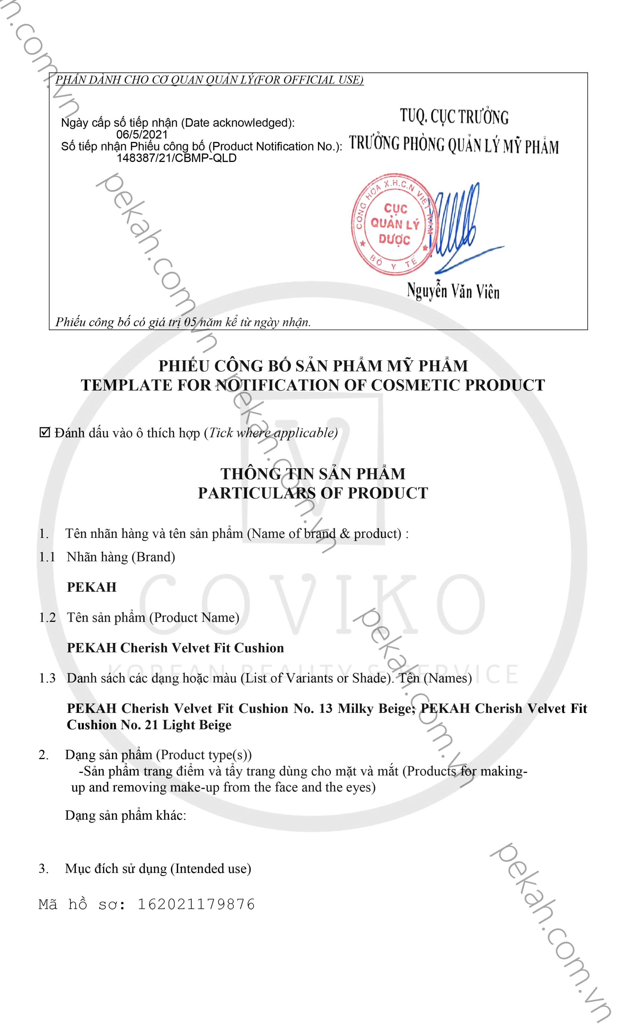 PHẤN NƯỚC CHE KHUYẾT ĐIỂM LÀM MỊN DA PEKAH - PEKAH CHERISH VELVET FIT CUSHION