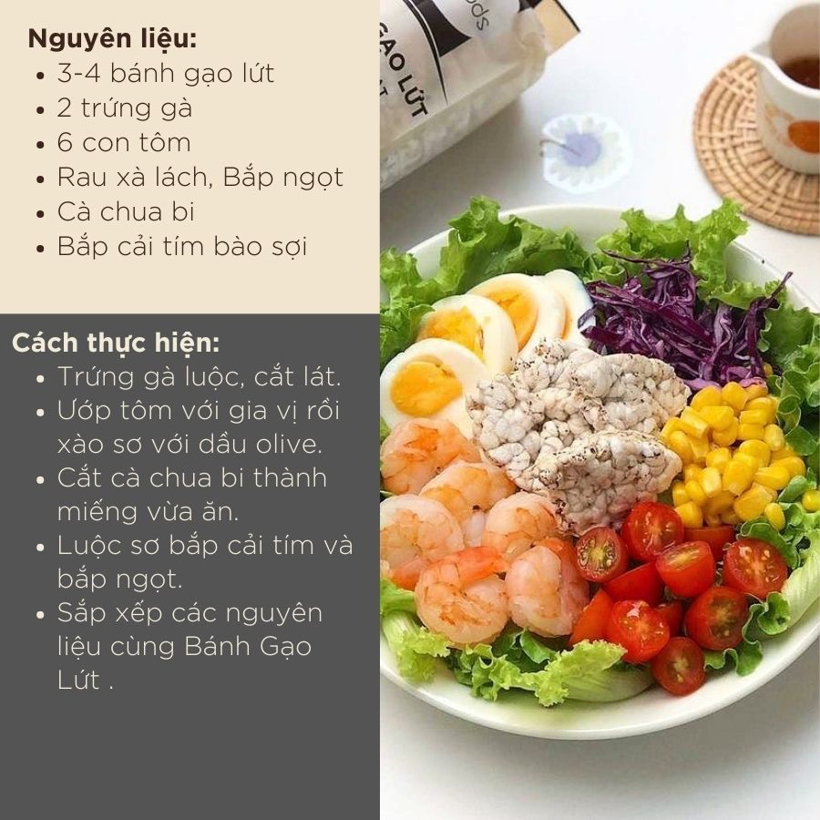 Bánh gạo lứt ăn kiêng, tập GYM GUfoods