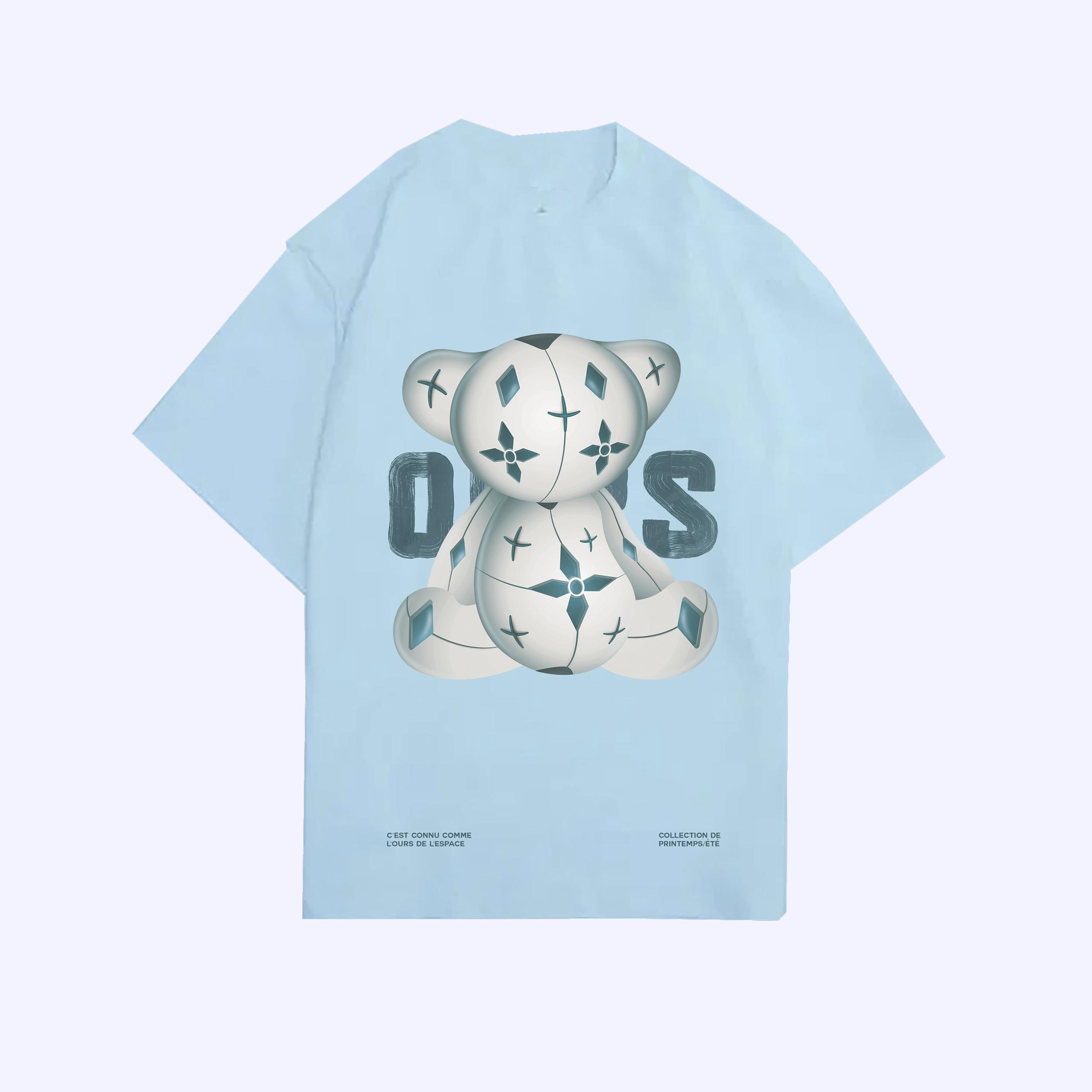 Sky Blue L'ours de L'espace T-Shirt