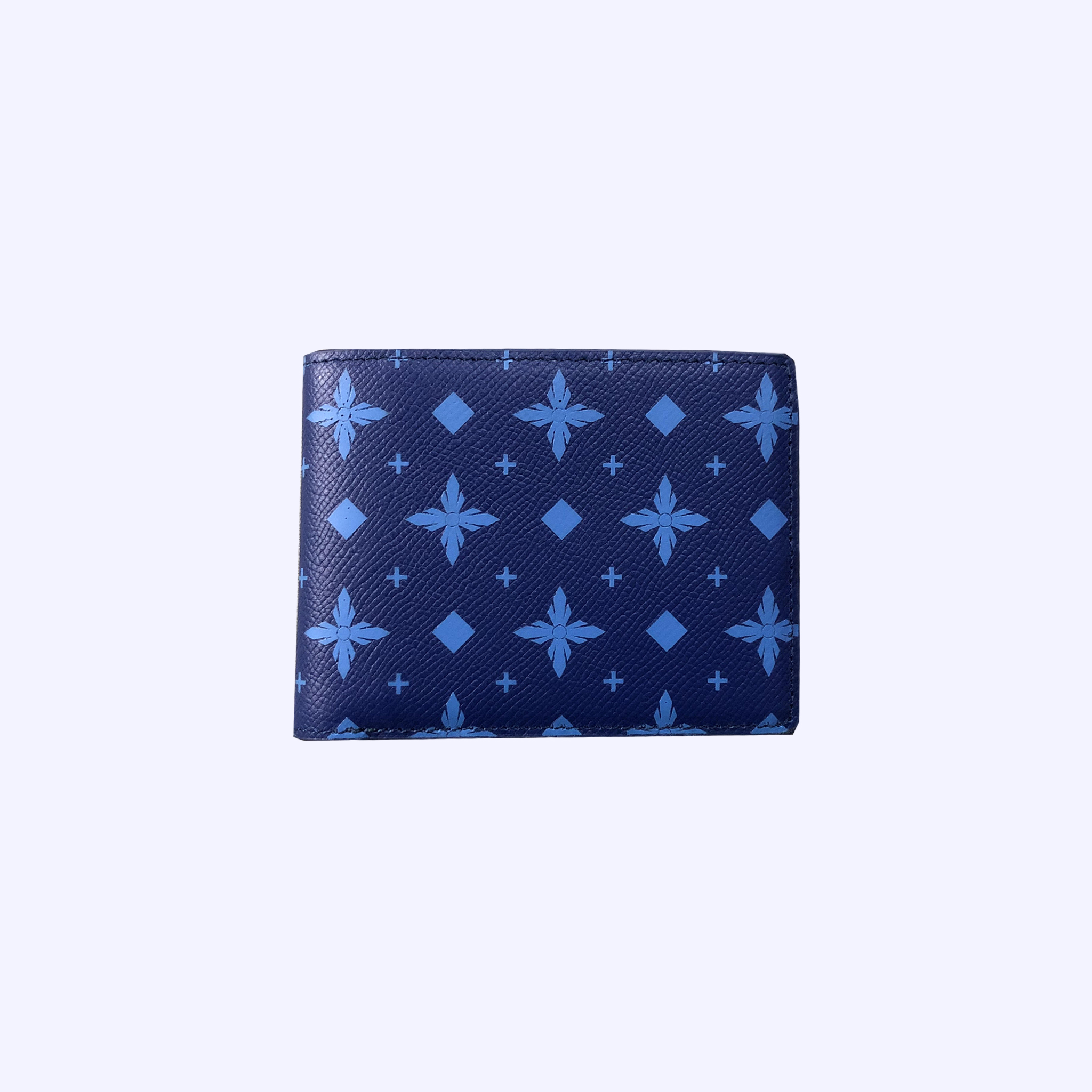 Blue LDV Monogram Short Wallet