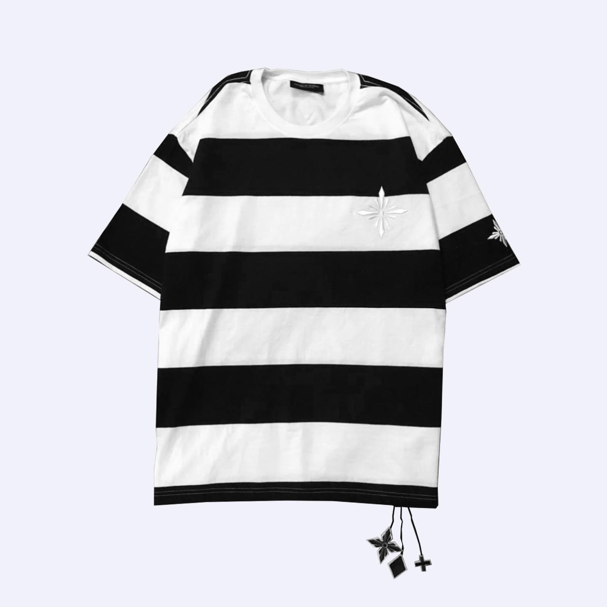 B/W Big Striped Signature T-Shirt