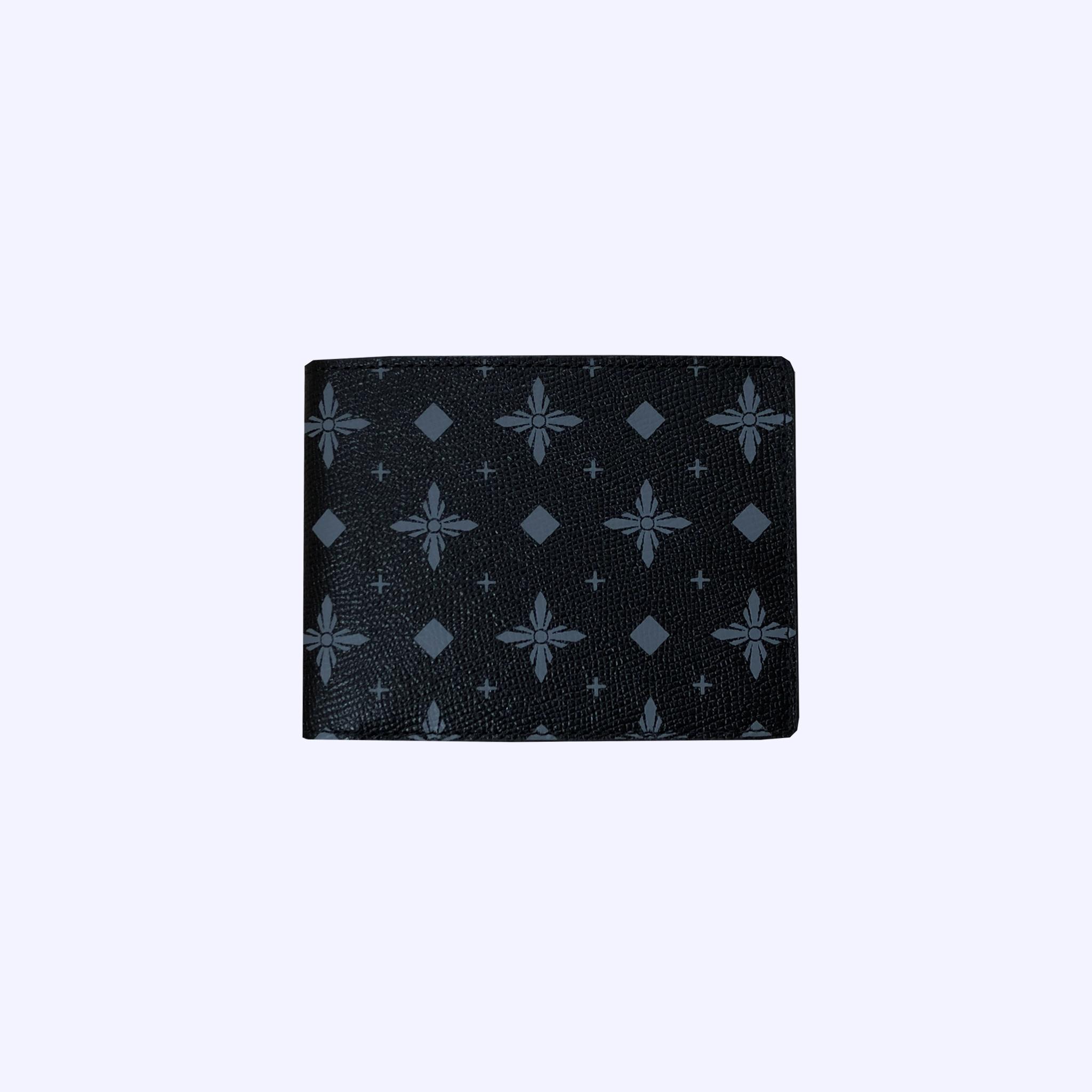 Charcoal LDV Monogram Short Wallet