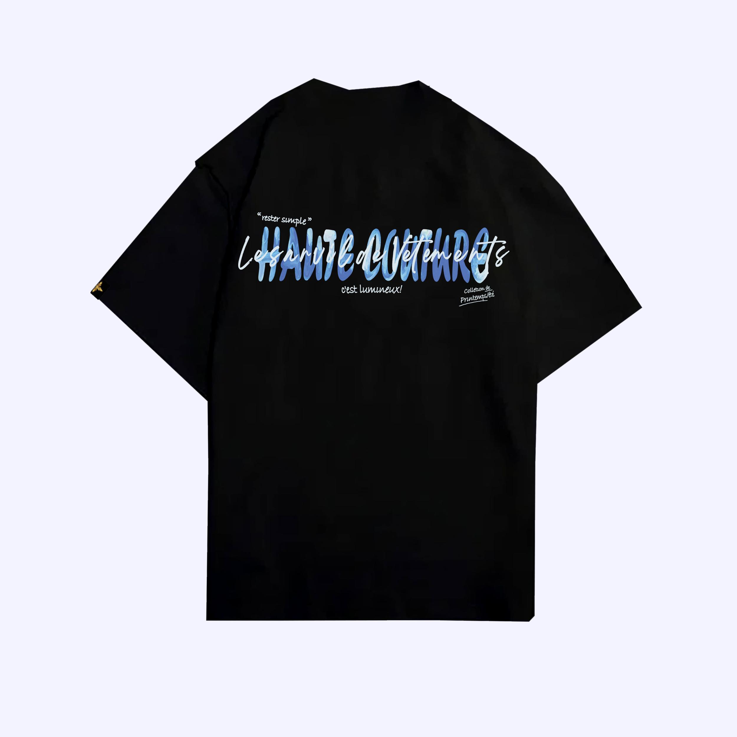 Black Rester Simple T-Shirt