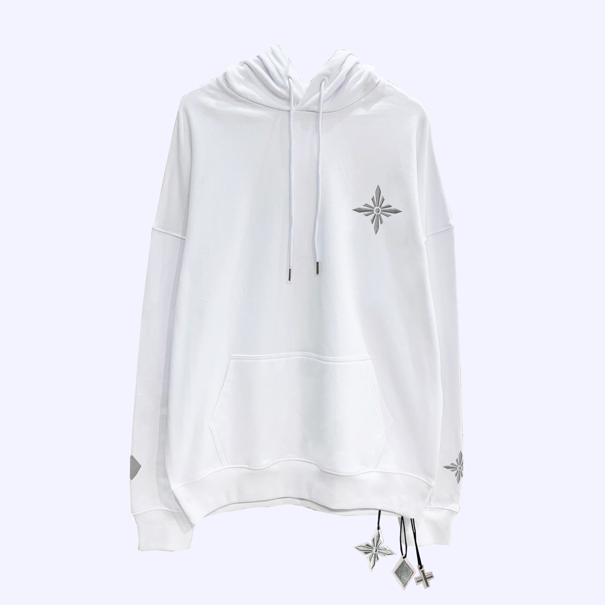 White Silver Signature Hoodie
