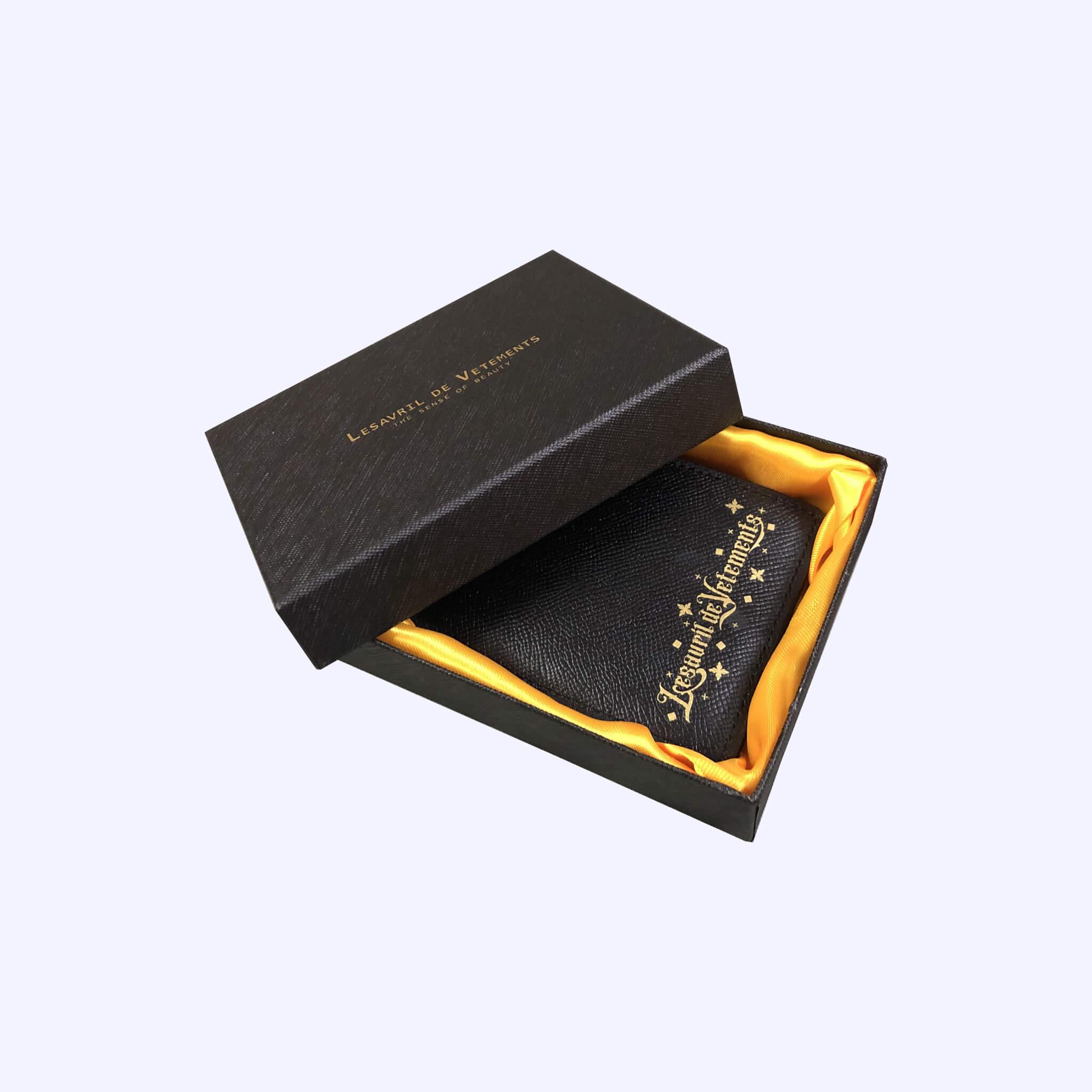 Black Twinkle Short Wallet