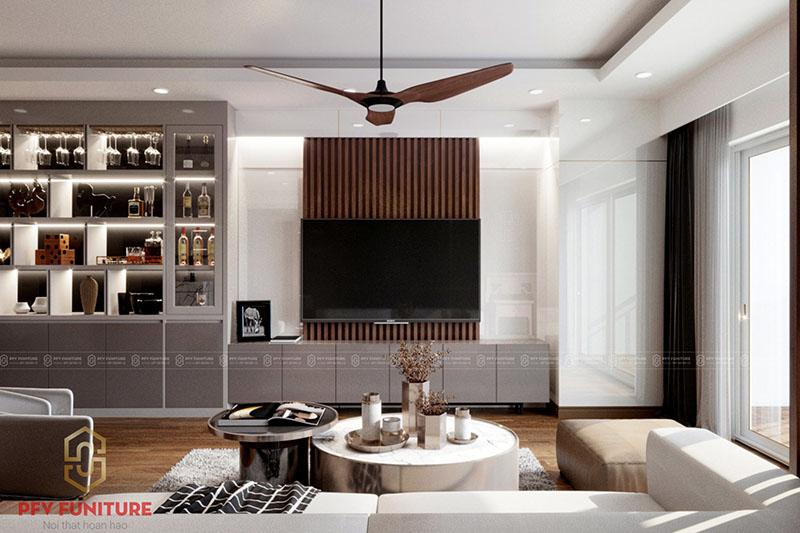 Thiết kế nội thất đẹp sang cho căn hộ đẳng cấp