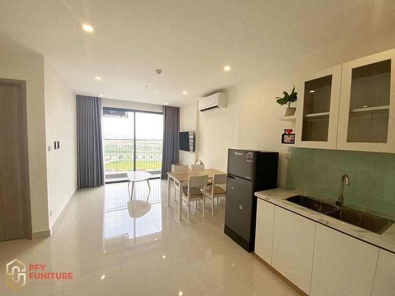 Thi công hoàn thiện nội thất căn hộ cho thuê 1PN Ocean Park